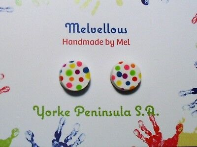 polyer clay Melvellous colourful dot earrings