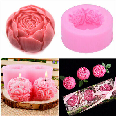 3D Silicone Rose Flower Soap Mold Mould Cake Topper Chocolate Fondant Decor