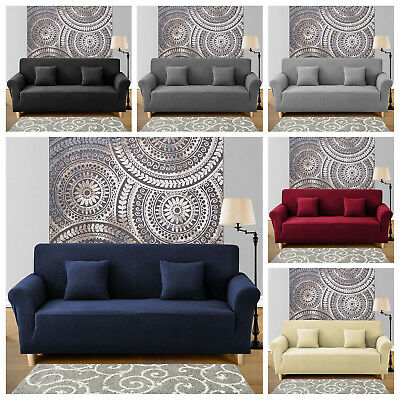 1/2/3 Seater New Modern Stretch Sofa Cover Slipcover Soft Couch Cover Protectors