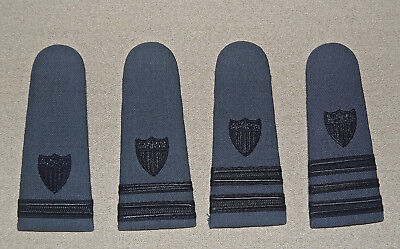 Vintage Rare Gray WW2 US Coast Guard Shoulder Boards Lot of 4