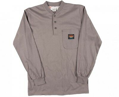 Rasco FR Gray  Henley Long Sleeve  T-Shirt  NWT