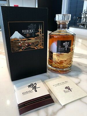 Suntory Hibiki 21 Year Old Mount Fuj Limited Edition 700ml Rare x 1