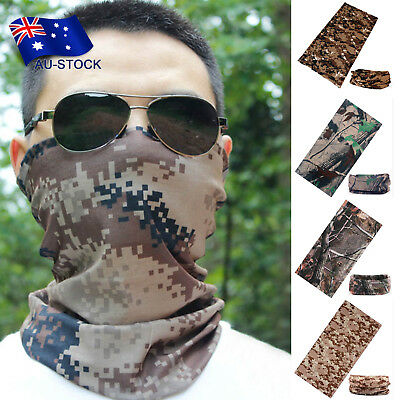 Outdoor Cycling Camo Tube Headband Scarf Face Mask Bandanas Head Neck Snood Wear