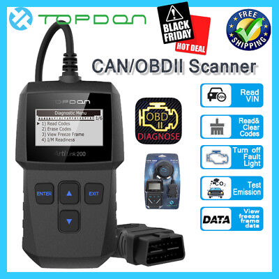 OBD OBD2 OBDII EOBD Fault Code Reader Scanner Diagnostic Auto Engine Scan Tool
