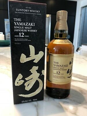 Yamazaki 12 Year Old Japanese Single malt Whisky 700ml x 1