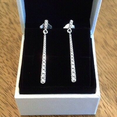 Genuine Pandora Shooting Stars Drop Earrings 296351cz With Free Pouch