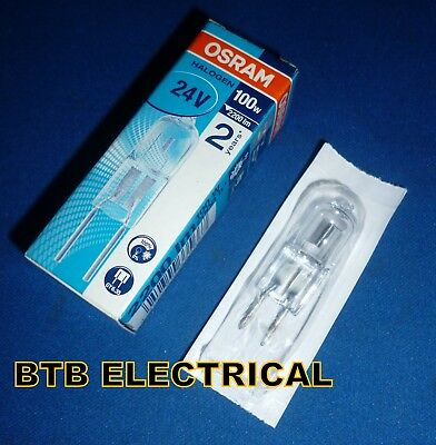24V 100W Halogen Lamp GY635 2200lm 64460 OSRAM HALO-6.3/100/24