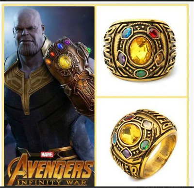 2018 THANOS Infinity Gauntlet POWER RING Avengers The Infinity War Stones 8-12