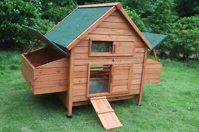 XL Chicken Coop Rabbit Hutch Cage Hen Chook House