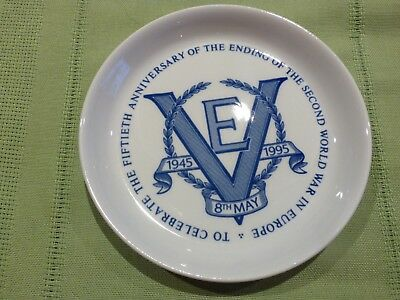 SPODE ENGLAND 50th ANNIVERSARY OF VE DAY 8 MAY 1945-1995 COMMEMORATIVE PIN DISH
