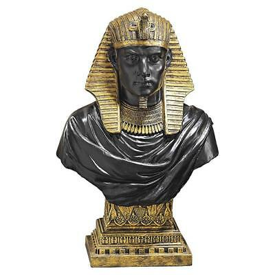 Ancient Egyptian Antique Gold King Rameses Sculpture Statue Bust
