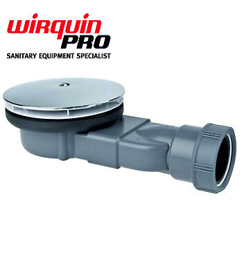Wirquin Slim Extra Flat Low Profile Shower Trap Waterless Membrane For 90mm 4cm