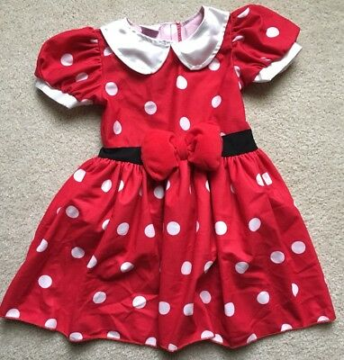 Disney Minnie Mouse Classic Red Polka Dot Dress Costume 18 M Months ToysRUs Girl
