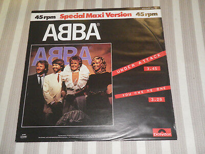 "ABBA: Under Attack/ You Owe Me One, POLYDOR, 2141 706, GER, 12""/ MAXI, MINT WAX!"