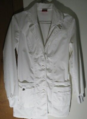 Dickies XS Womens Lab Coat White, Contemporary Fit