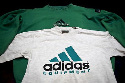 2 Adidas Equipment Pullover T-Shirt TShirt Sweater Sweat Vintage 90er Casual L