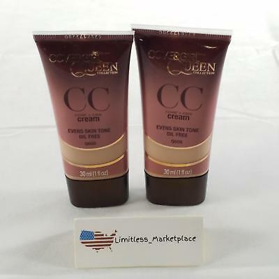 (2 Pack!) CoverGirl Queen Collection CC Cream Rich Sand #Q600, 1 Ounce