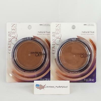(2) COVERGIRL Queen Natural Hue Mineral Bronzer Q110 Brown Bronze, .39 oz