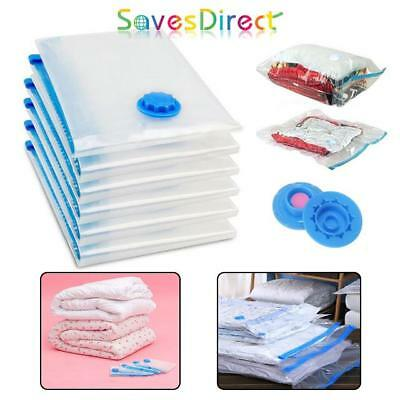 Vacuum Compressed Storage Bags Space Saving Clothes Bedding 4 Sizes Uk
