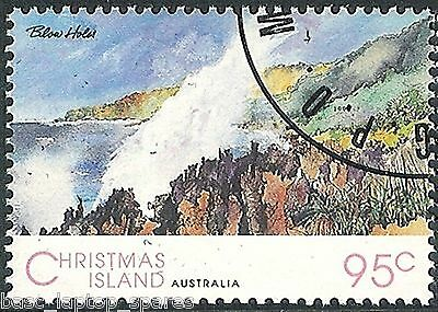 1993 Scenic Views of Christmas Island - 95c Blow Holes CTO