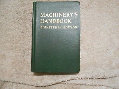 Machinery's Handbook  Eighteenth Edition 1970 Third Printing 801