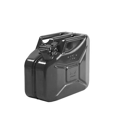 10L Steel Jerry Can Black with Pourer (BUNDLE)