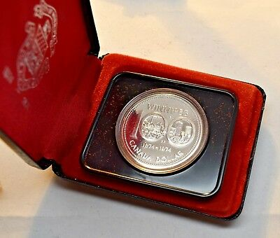 1974 Canada Winnipeg Silver Specimen Dollar Coin With Proof Like Appearence