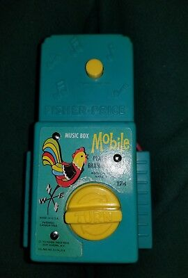 Vintage Fisher Price Baby Mobile Music Box Farm Animals Plays Brahms' Lullaby