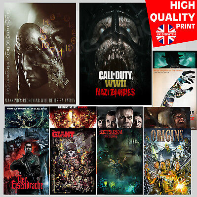 Call of Duty Black Ops Zombie Maps Gaming Poster | A4 A3 A2 A1 | Wall Decal