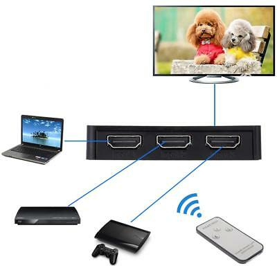 3 Port 1080P HDMI Auto Switch Switcher Selector Splitter Hub for HDTV+ iR Remote