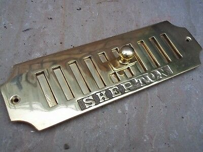 Solid Brass Open/close Ventilation Grille Shepton Repro Antique