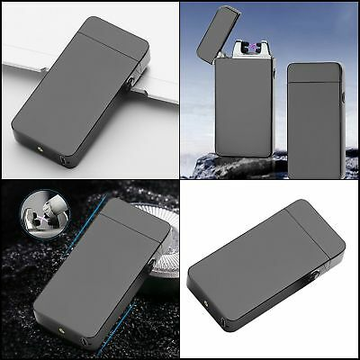 Atomic USB Electronic Dual Arc Lighter Flameless Recharge Windproof Fast Charge