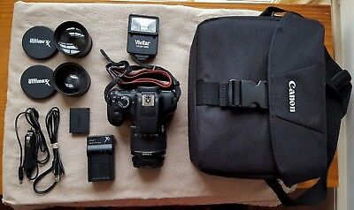 Canon EOS Rebel T6 Digital SLR Camera Kit with EF-S 18-55mm Lens And Extras,