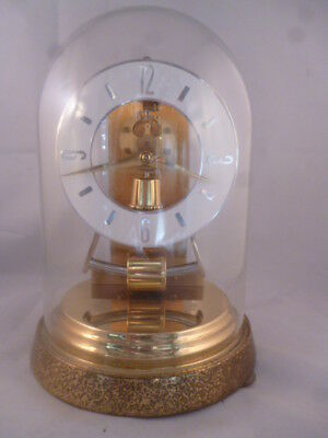 Vintage German 1960s Kieninger & Obergfell Kundo glass domed clock, working