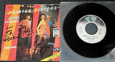 "POINTER SISTERS: Jump (For My Love) - 7"" Single 1983, Coverhülle 3fach SIGNIERT!"