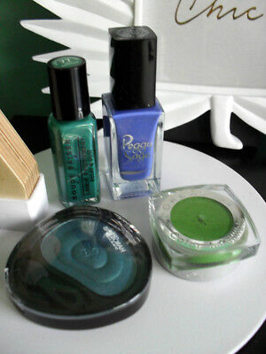 MAKE UP longue tenue Bleu PAON Vert KIWI / 2 vernis 2 fards / tropical JUNGLE /