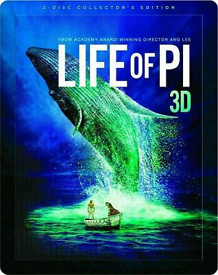 Life of Pi 3D - Limited Edition Steelbook [Blu-ray 3D + Blu-ray] New and Sealed!