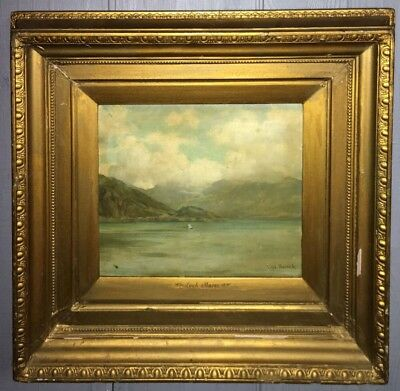 Rare Ralph Peacock Oil On Board - Loch Maree - Land Scape Painting- Dated 1896