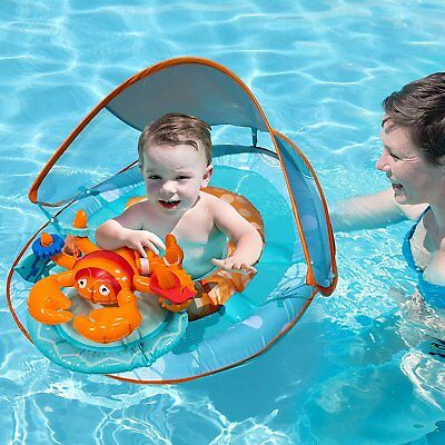 SWIMWAYS INFLATABLE BABY Spring Lobster Pool Float Activity Center ...