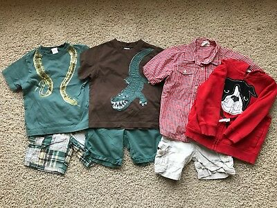 Lot of 7 Boy's Gymboree, The Childrens Place, Crazy 8 Items 3T, 3 years