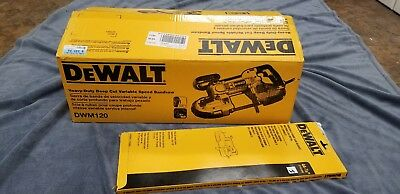 BRAND NEW Dewalt DWM120 Heavy Duty Deep Cut Portable Bandsaw w 3PK of Blades