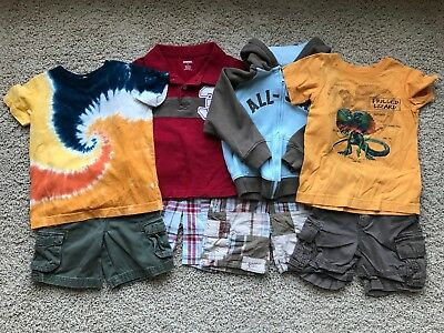 Lot of 8 Boy's Gymboree, The Childrens Place, Lands End, Cherokee Items 3T, 3 yr