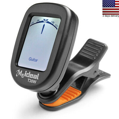 Guitar Tuner Clip on Rotatable Portable Tuning Digital Chromatic Electronic