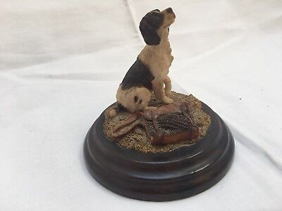 "Figur Hund - Hundeszene- Springer Spaniel ""Country Artists"" England - Handarbeit"