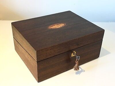 Fine Antique Victorian Writing Slope Large Box Shell Motif C.1890