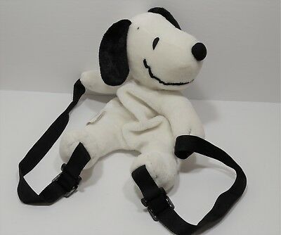 """Vintage Peanuts Snoopy Plush Backpack 12"""" United Feature Syndicate"""