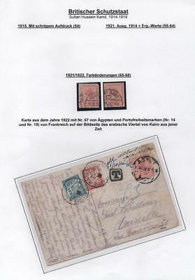 EGYPT: 1921-1922 Examples - Ex-Old Time Collection - Album Page (16339)