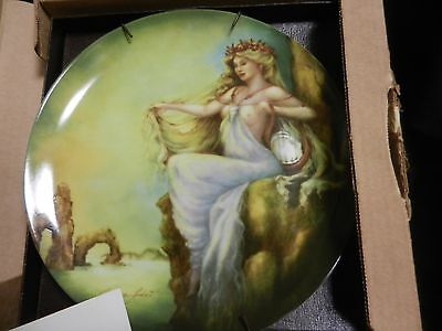 """Edwin M Knowles Collector's Plate """"Water"""" by Georgia Lambert Ltd Edition 1985"""
