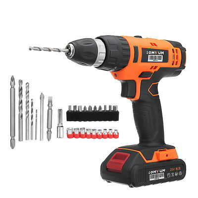 20V Rechargeable Cordless Electric Impact Drill Power Screwdriver with LED Light
