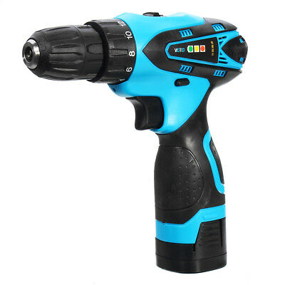 16.8V Li-ion Battery Cordless Electric Screwdriver Power Drill Two-Speed Drive B